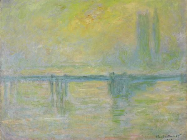 Monet's Charing Cross Bridge, brouillard