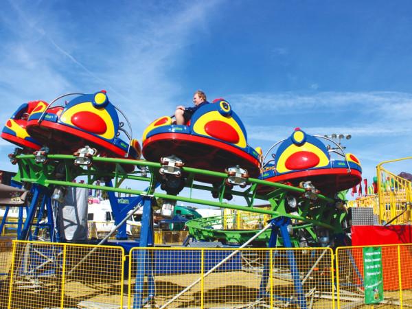 Big Rivers Fairgrounds Rolling Thunder ride amusement