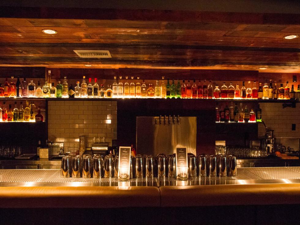 bar and drinks at Half Step cocktail bar on Rainey Street