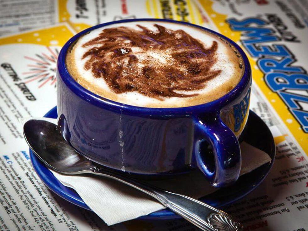 Coffee at Buzzbrews restaurant in Dallas