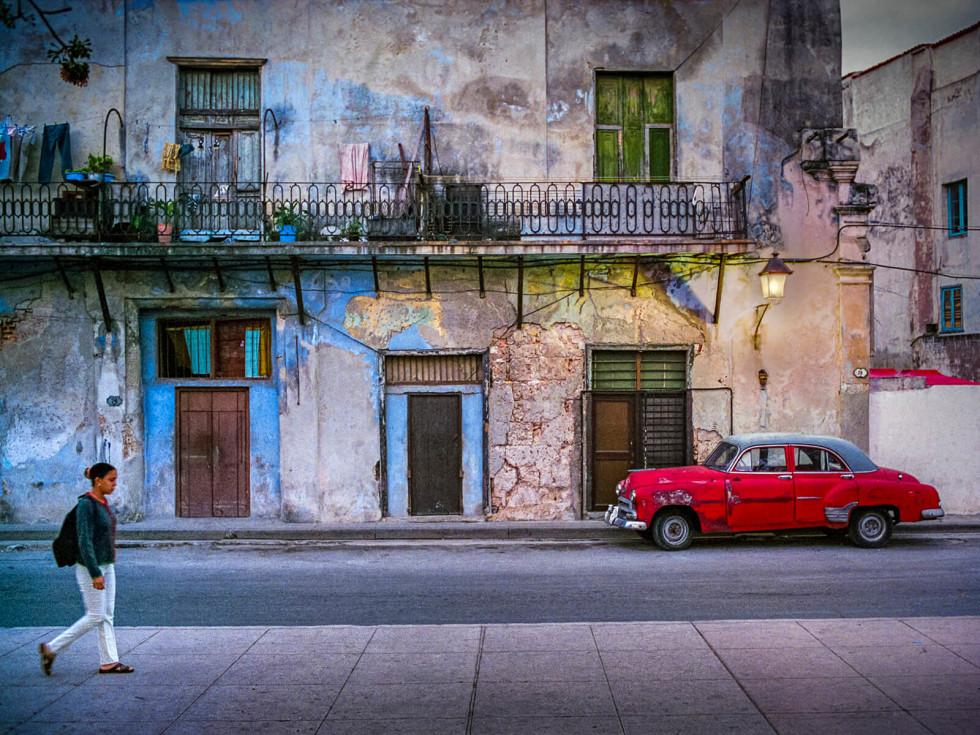 Red Car at Dusk, Cuba 2001