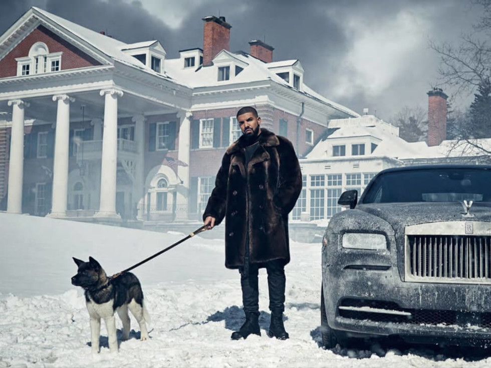 Drake and his dog Diamond