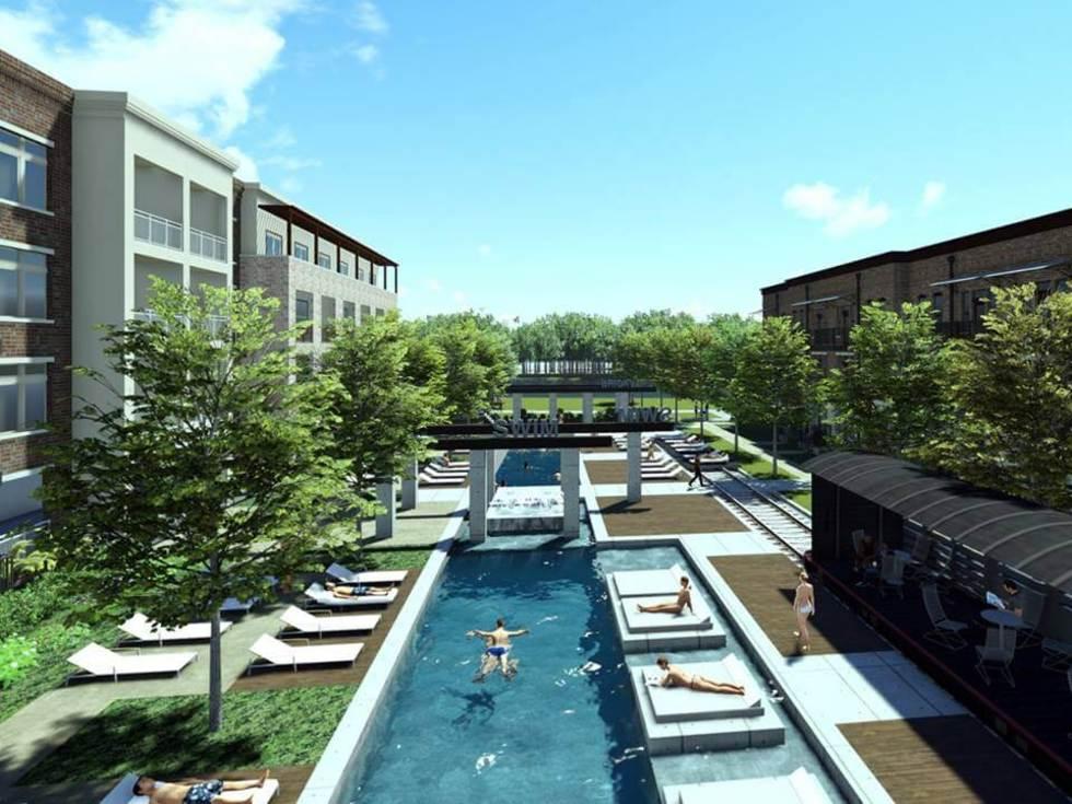 The Brickyard in Farmers Branch pool rendering