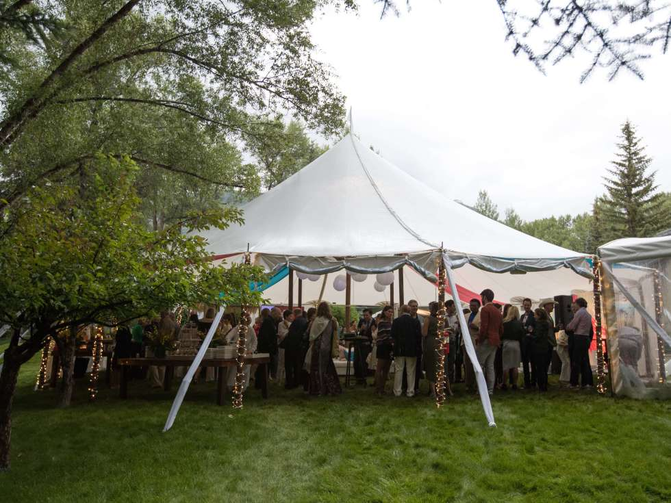 MD Anderson Aspen,  party tent, July 2016