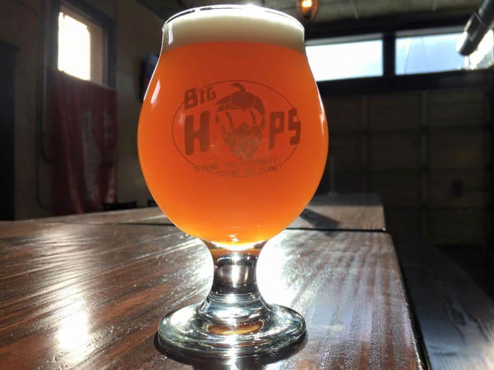 Big Hops bar pub growler station San Antonio craft beer glass