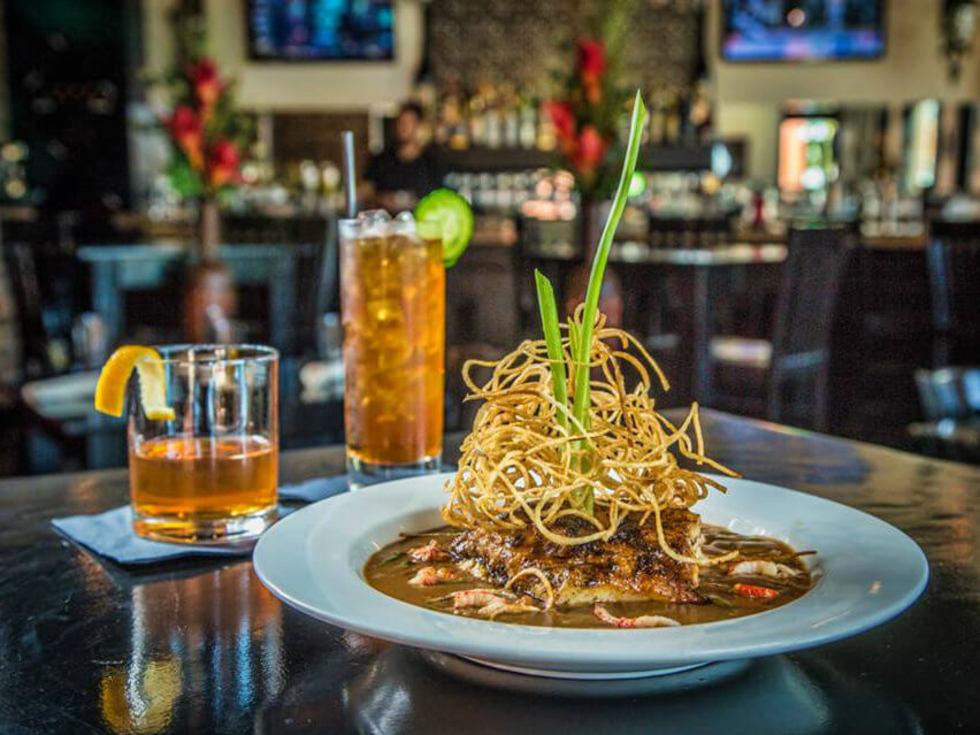 Fish dish at NOLA Grill