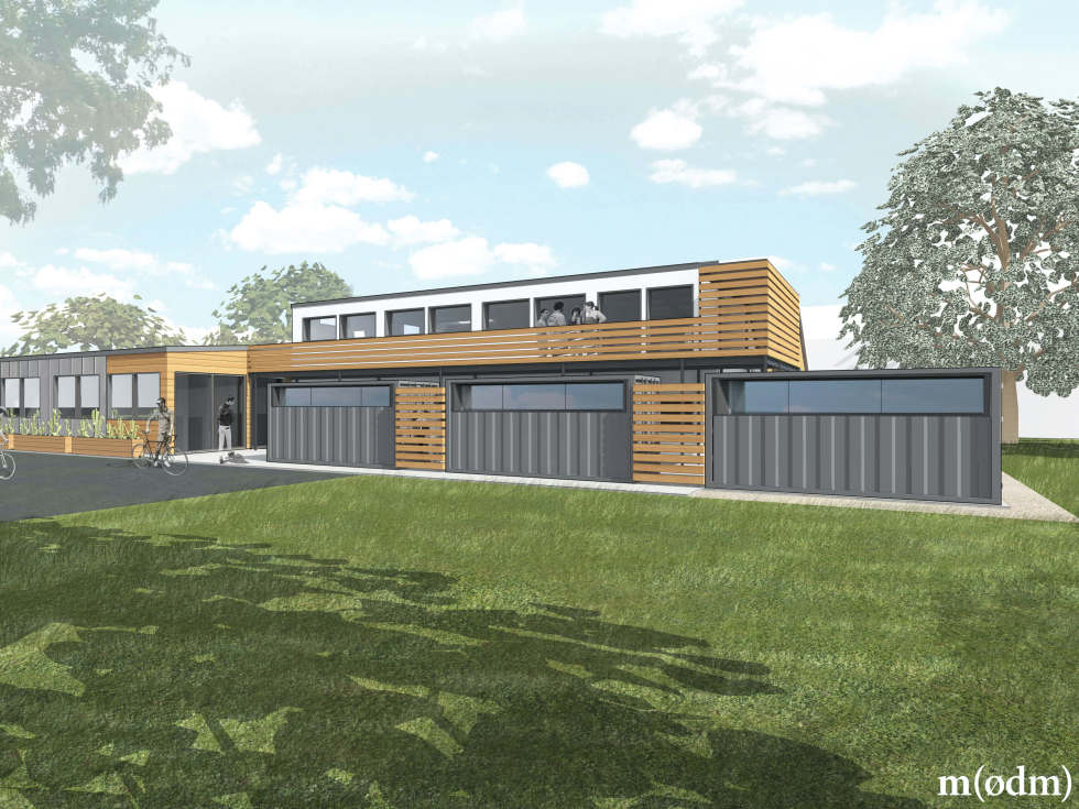 ATX Factory co-working space office East Austin rendering exterior
