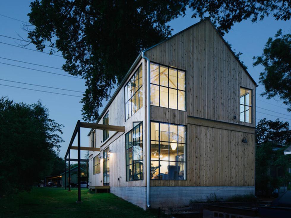Austin home house Houzz DIY modern Texas farmhouse Garden St exterior