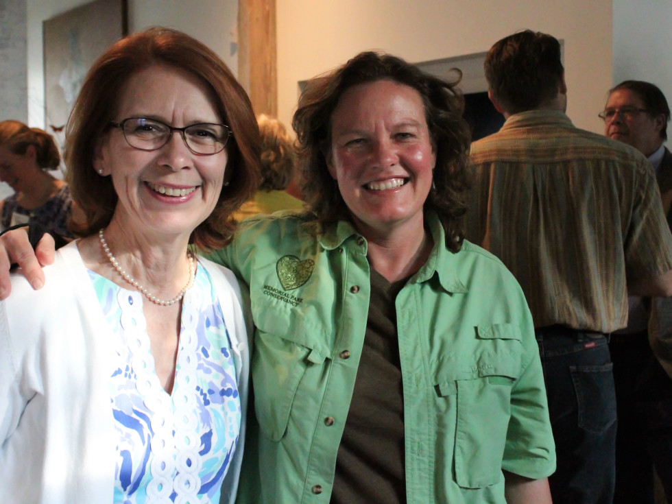 Houston Parks Board event, 7/16, Linda Sylvan, Shellye Arnold