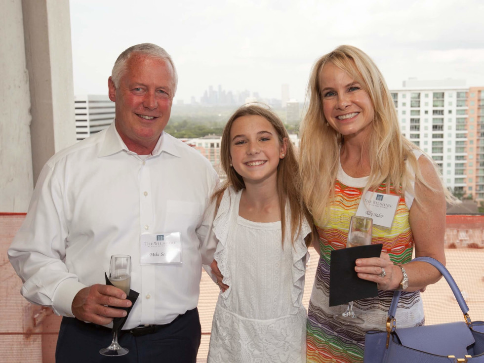 Wilshire Topping Out, July 2016, Mike Seder, Maddie Seder, Ally Seder