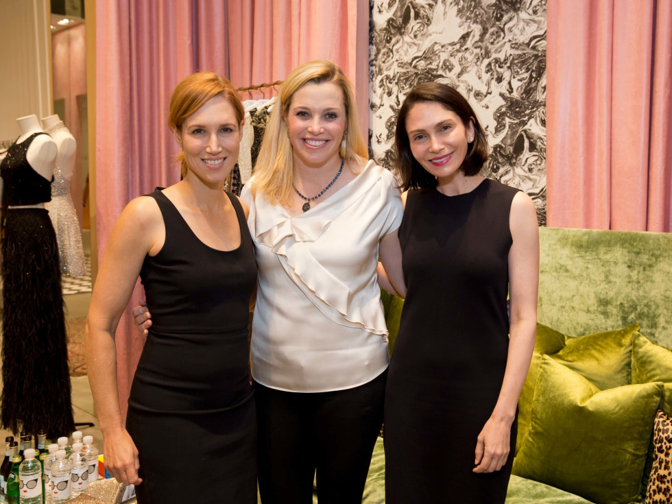 Alice and Olivia opening, 8/16, Carolyn Dorros, Molly Voorhees, Jennie Segal
