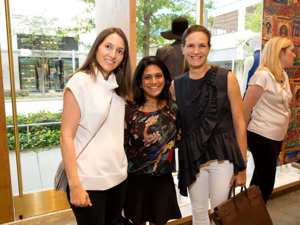 Alice and Olivia opening, 8/16, Allison LEibman, Vidya Bala, Cecilia Harris