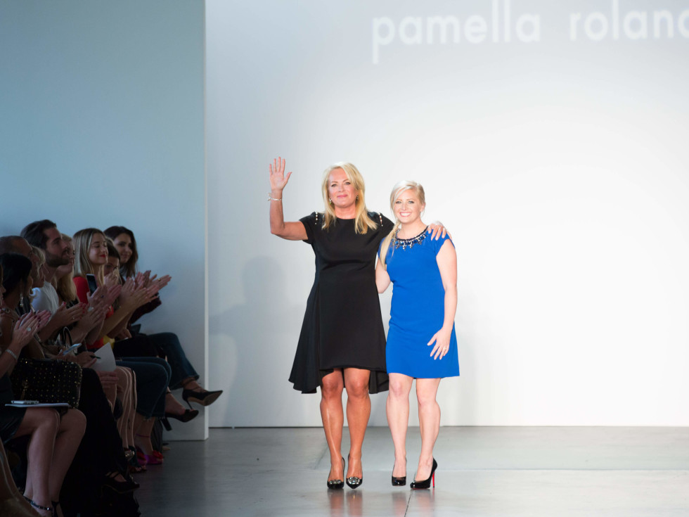 Pamella Roland and daughter