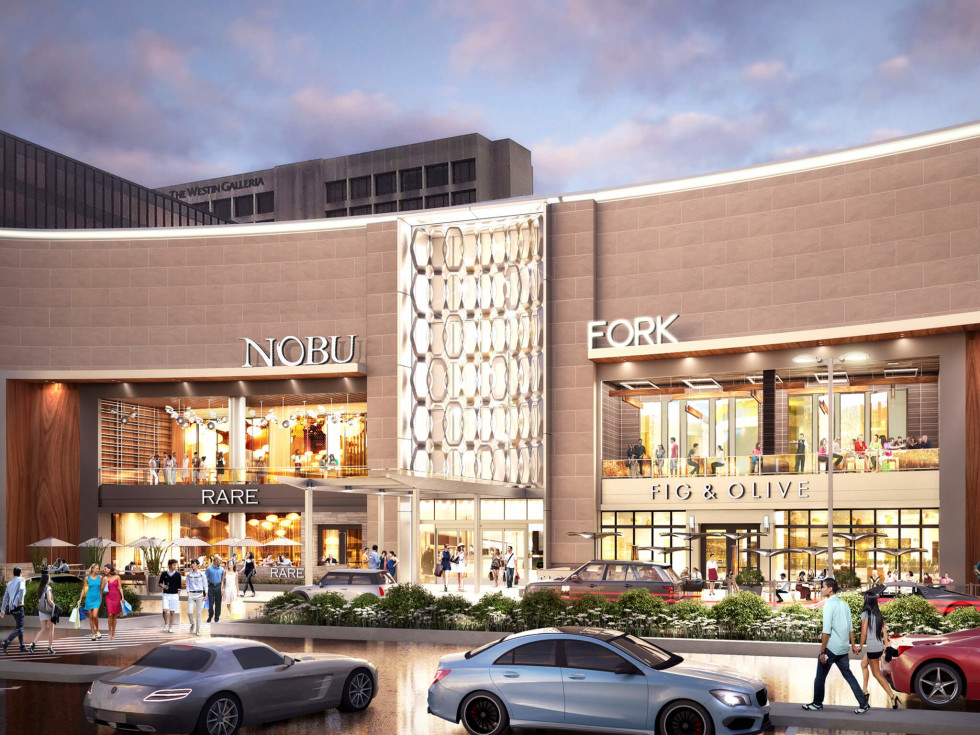 Galleria rendering Nobu Fig and Olive exterior