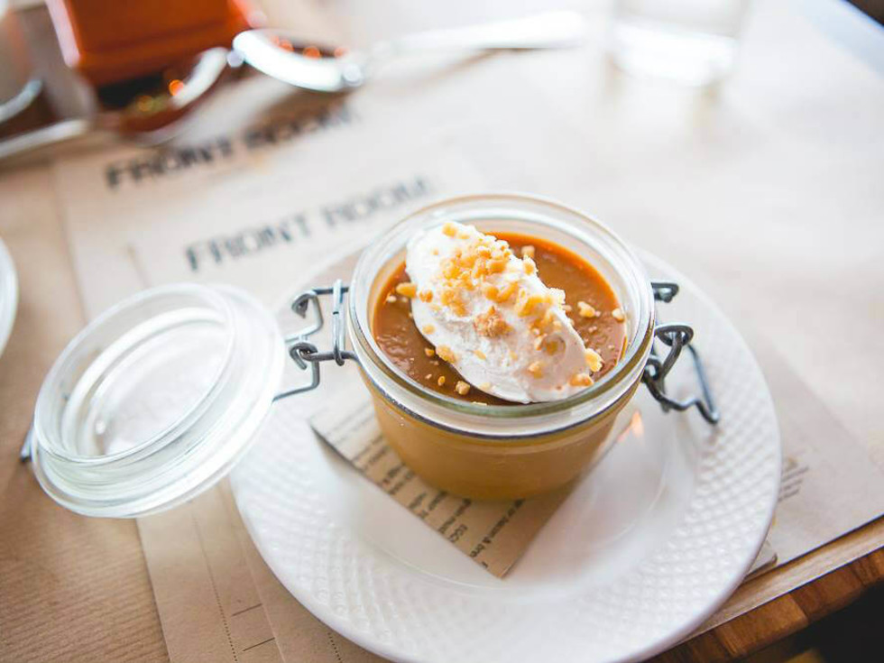 Salted caramel pot de crème at Front Room Tavern in Dallas