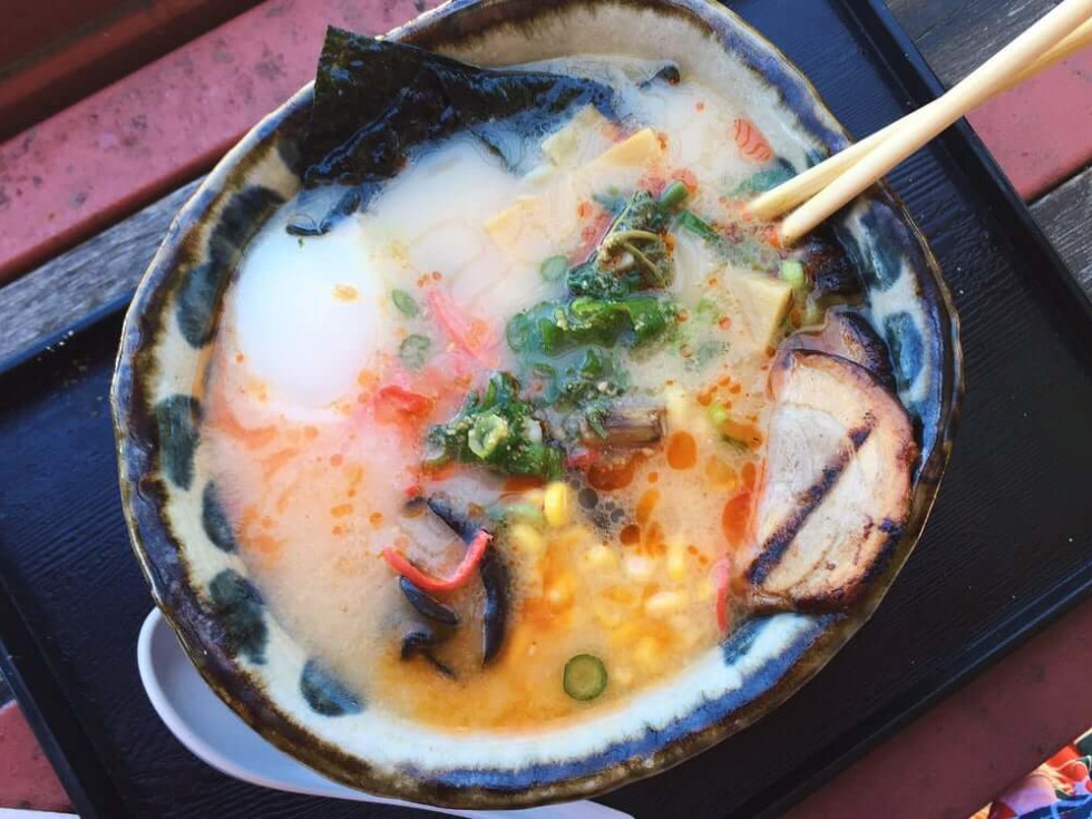 Ramen bowl at Ten Ramen in Dallas