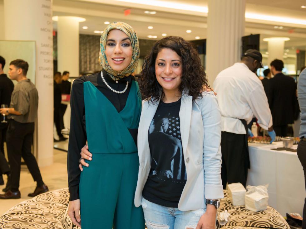 Zainab Ghwari, Kathy Baba at CultureMap Houston Social Top Texans