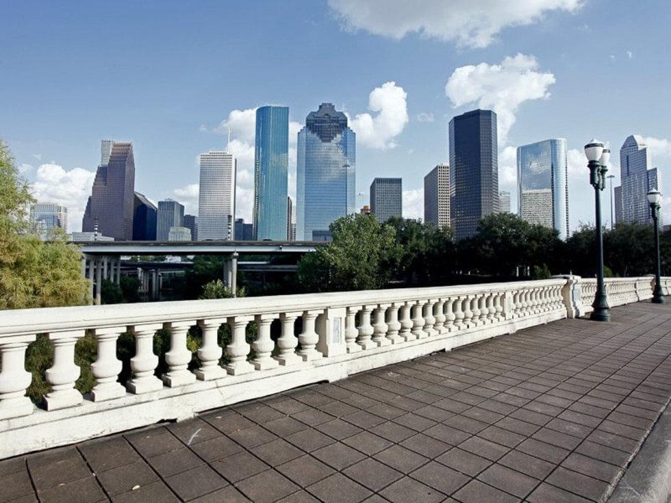 Houston skyline downtown day
