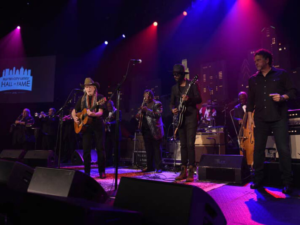 Austin City Limits Hall of Fame induction 2016 Willie Nelson Gary Clark Jr Mickey Raphael B.B. King Blues Band