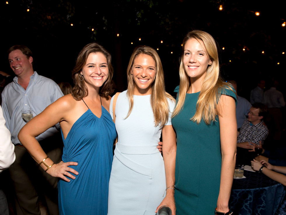 Houston, Bayou Preservation Association 50th anniversary gala, Oct. 2016, Brittany Cassin, Katie Arnoldy and Samantha Sebastian