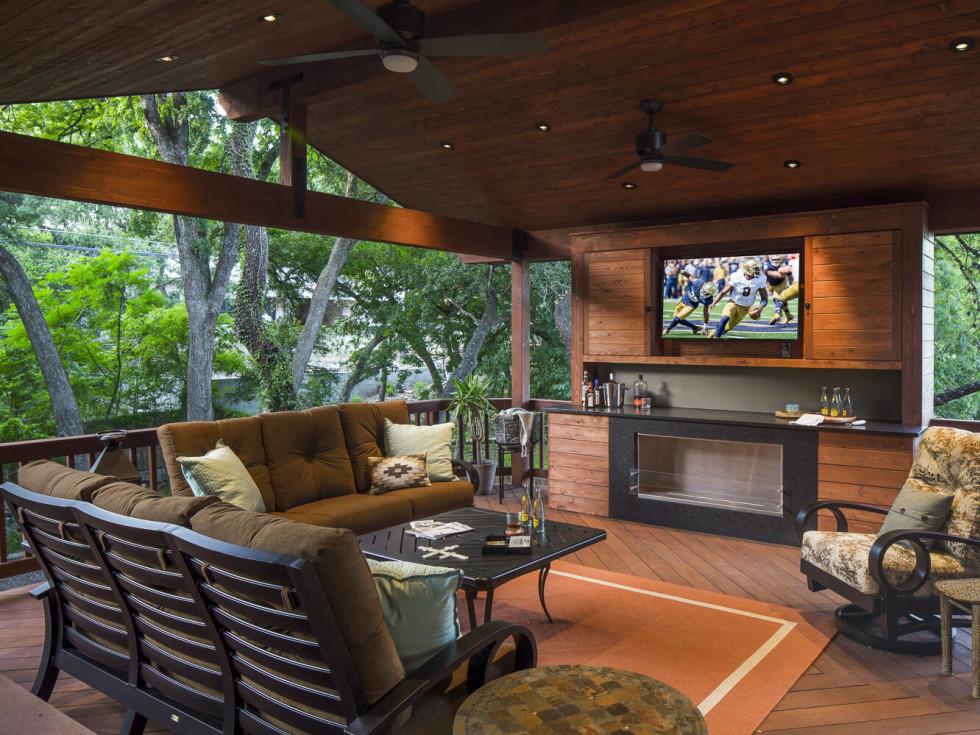 Rollingwood Austin home outdoor living CG&S Design Build