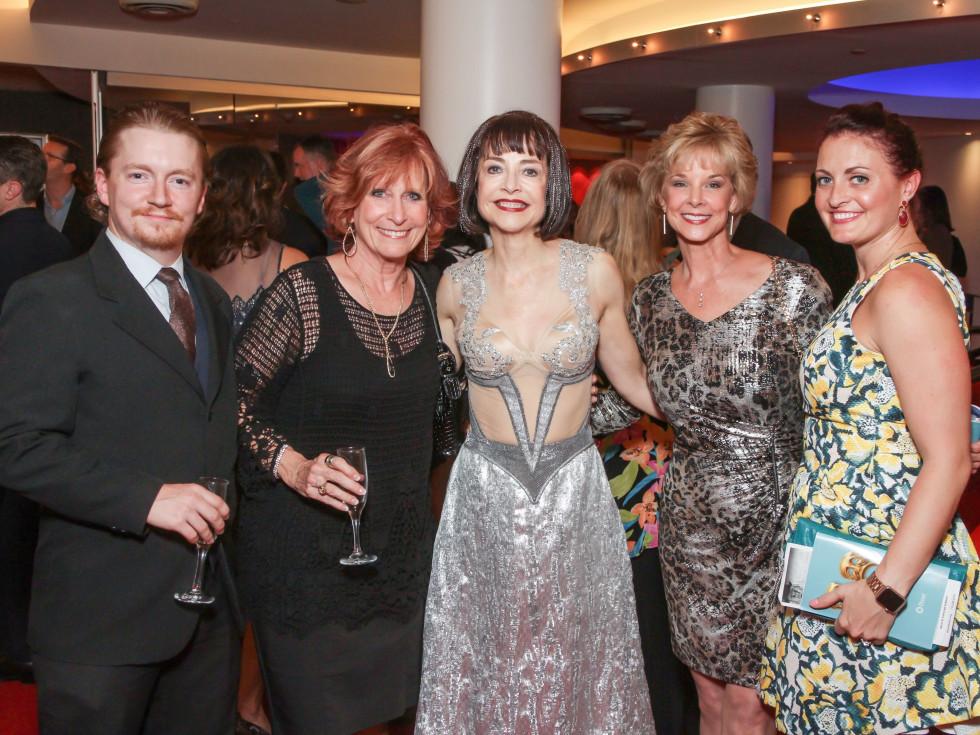 Alley Midsummer Night's Dream dinner, Trent O'Neal, Debbie McAngus, Josie de Guzman, Melna Moriarty, Carrie Vaughn