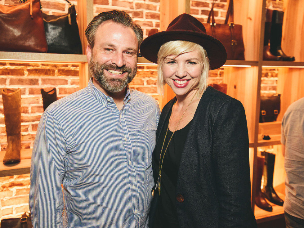 The Frye Company Austin grand opening 2016 Brandon Dickerson Kristen Dickerson