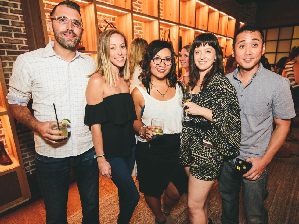 The Frye Company Austin grand opening 2016 Jeff Israel Alicia Cook Anna Nguyen Dominique Burkett Chris Chang