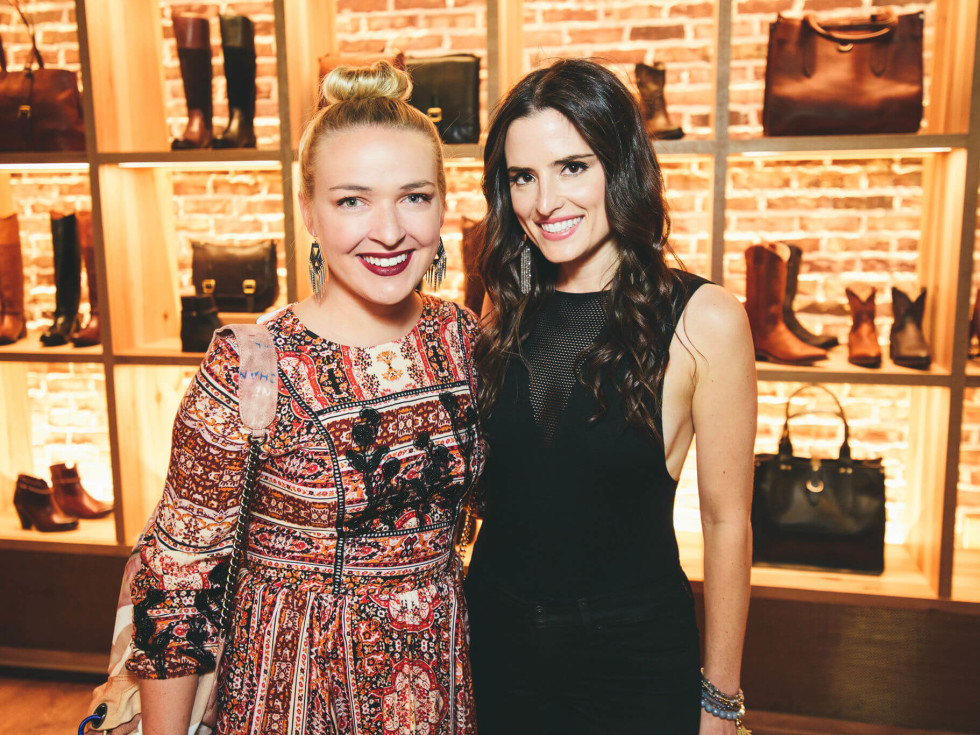 The Frye Company Austin grand opening 2016 Kaley Berry Michelle Zuzek