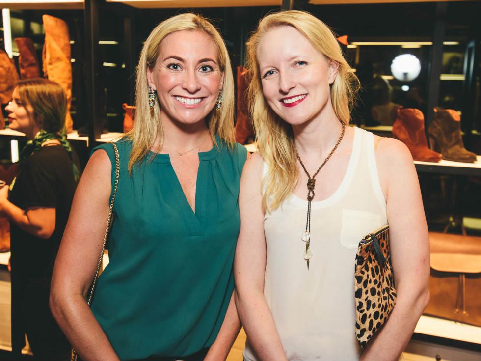 The Frye Company Austin grand opening 2016 Sara Skirboll Ellen Miller