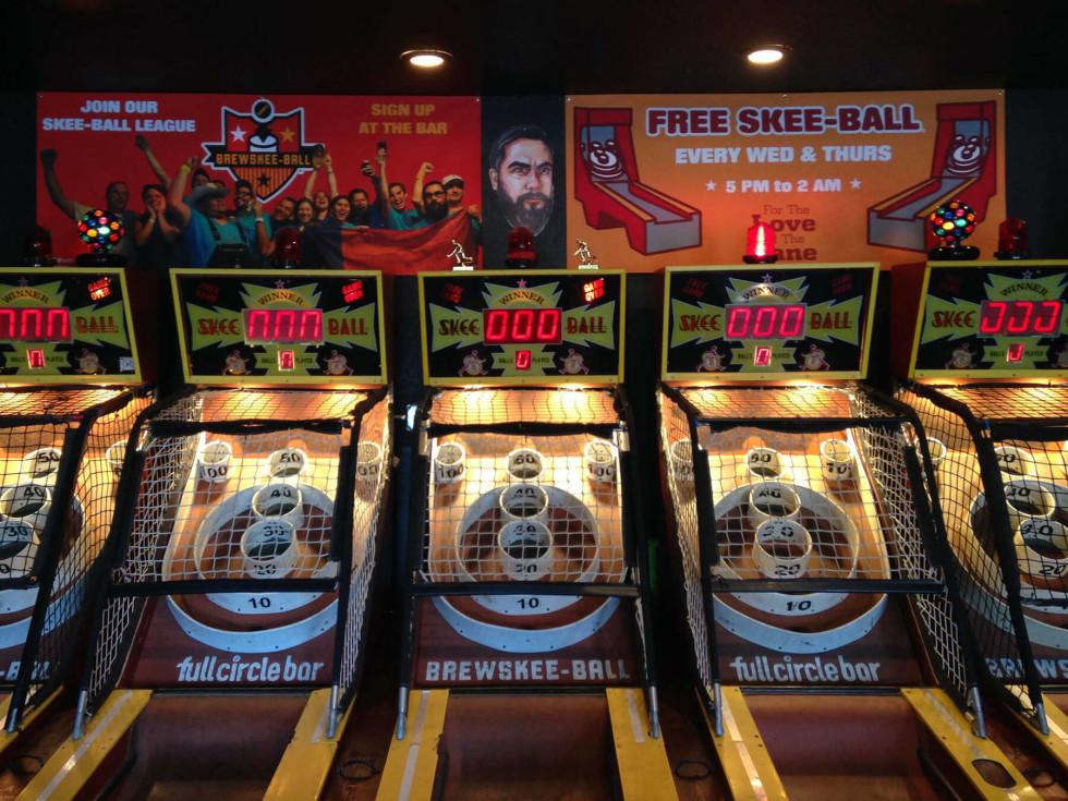 Full Circle Bar brewskee-ball games