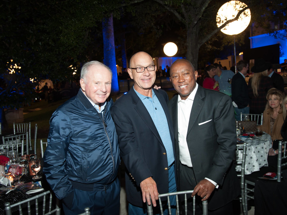 Houston, HPD True Blue Gala, Oct. 2016, Don Sanders, Senator John Whitmire, Mayor Sylvester Turner