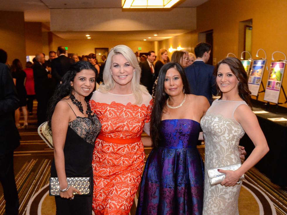 Houston, Crime Stoppers of Houston gala, Nov. 2016, Farida Abjani, Stephanie Von Stein, Melissa Rascon, Amanda Wilkinson