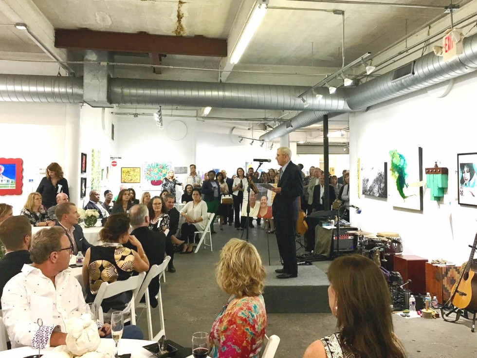 John Walsh at Art on the Avenue Preview Party