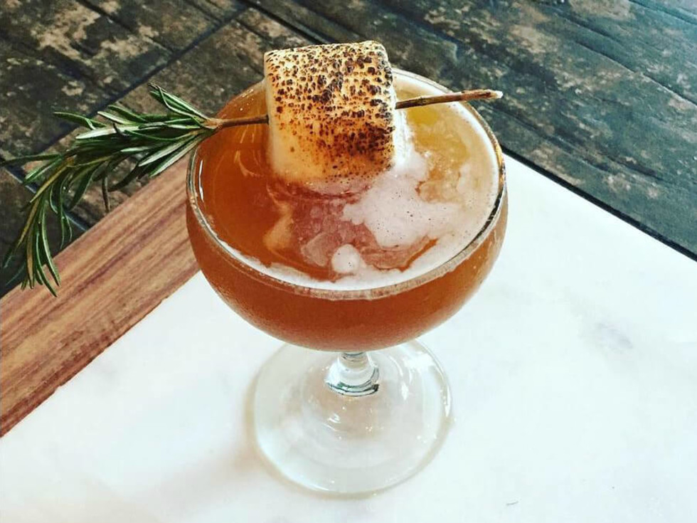 Jacoby's Restaurant and Mercantile fall 2016 cocktail Sweet and Toasty