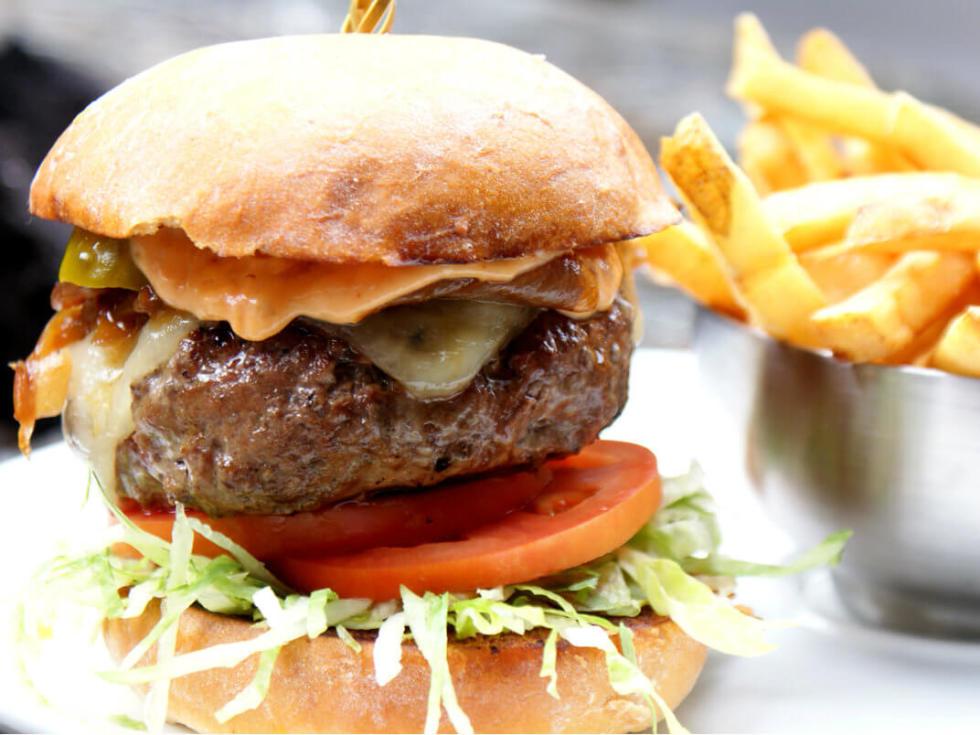 Burger at American Tap Room