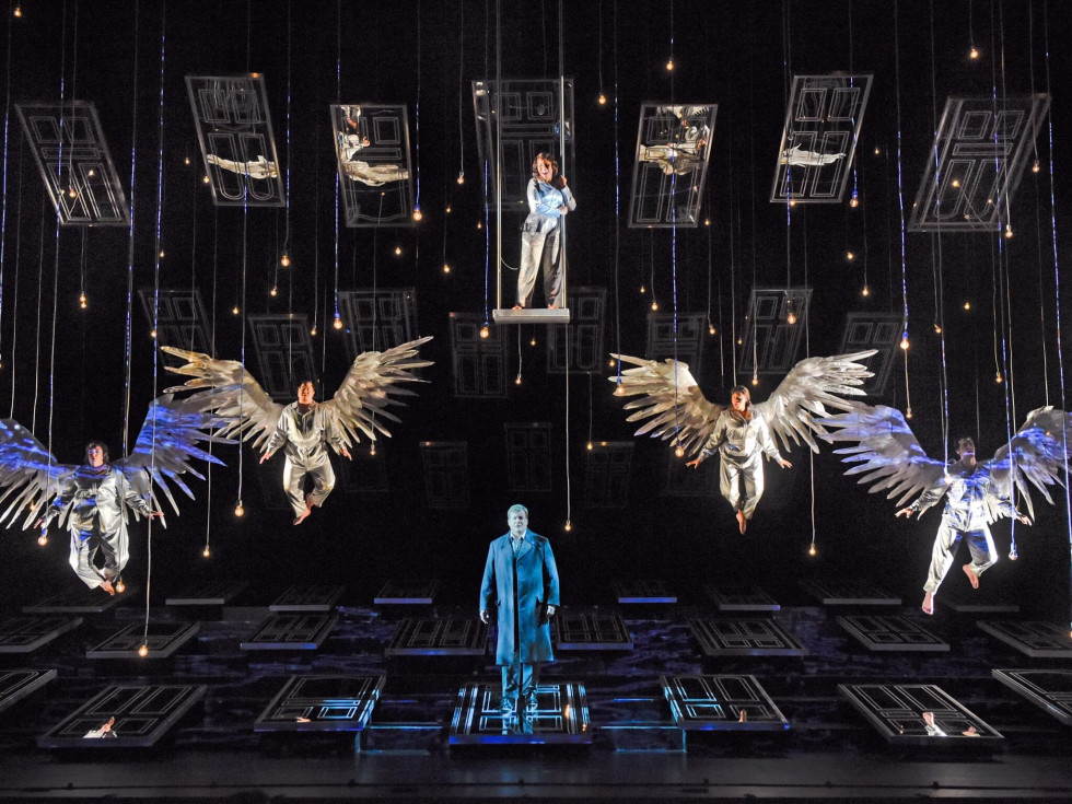 Houston Grand Opera It's A Wonderful Life angels William Burden as George Bailey and angels
