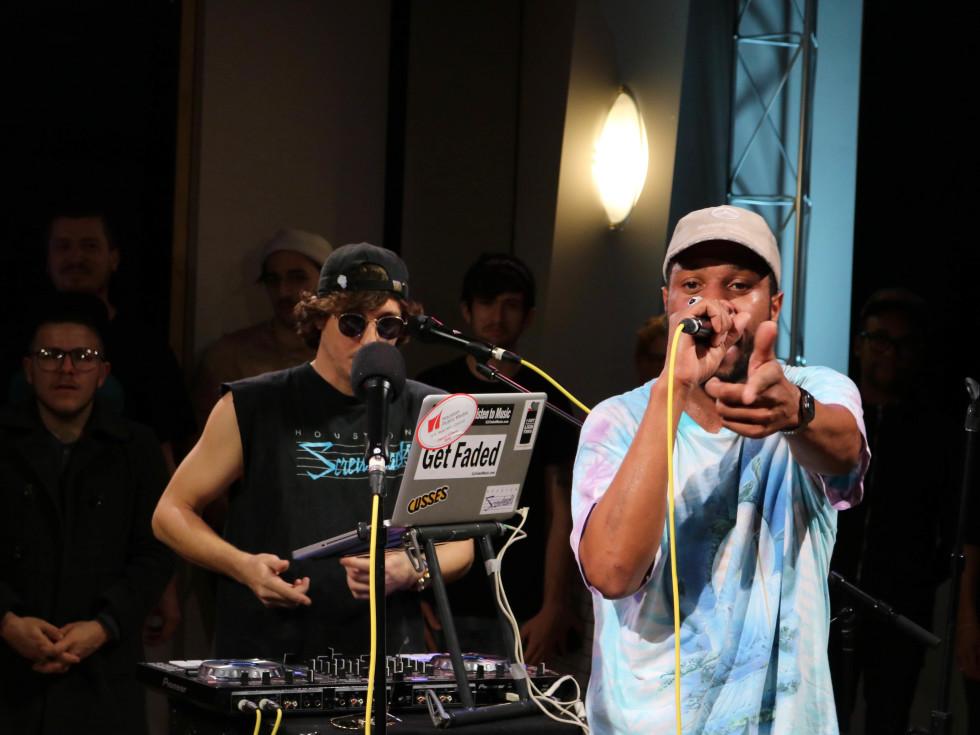 Fat Tony at Houston VuHaus launch concert