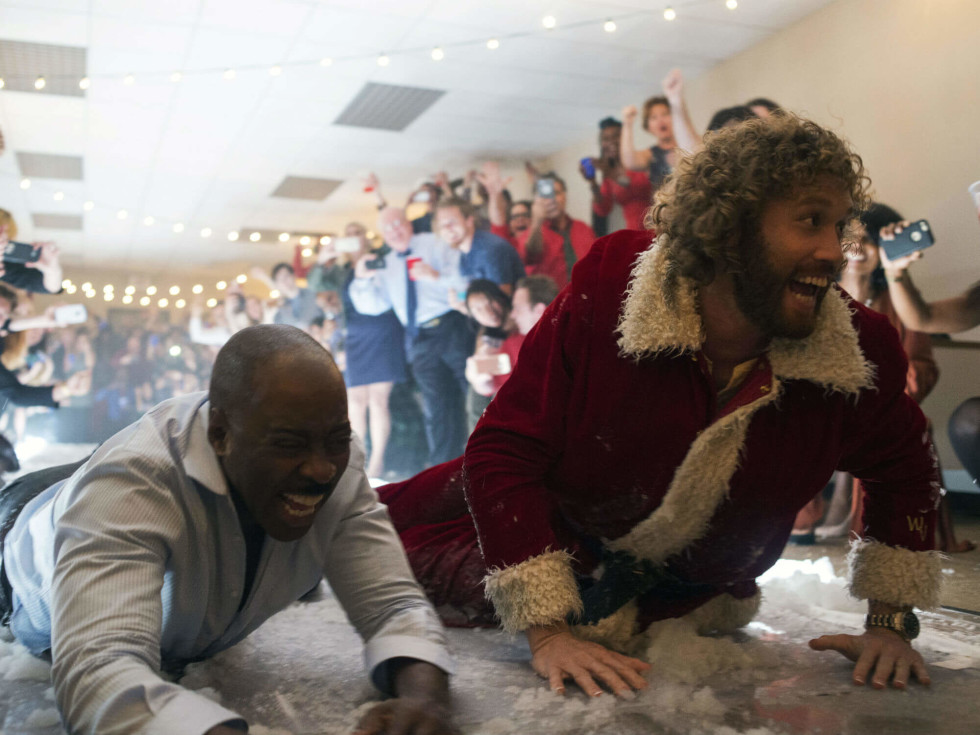 Courtney B. Vance and T.J. Miller in Office Christmas Party