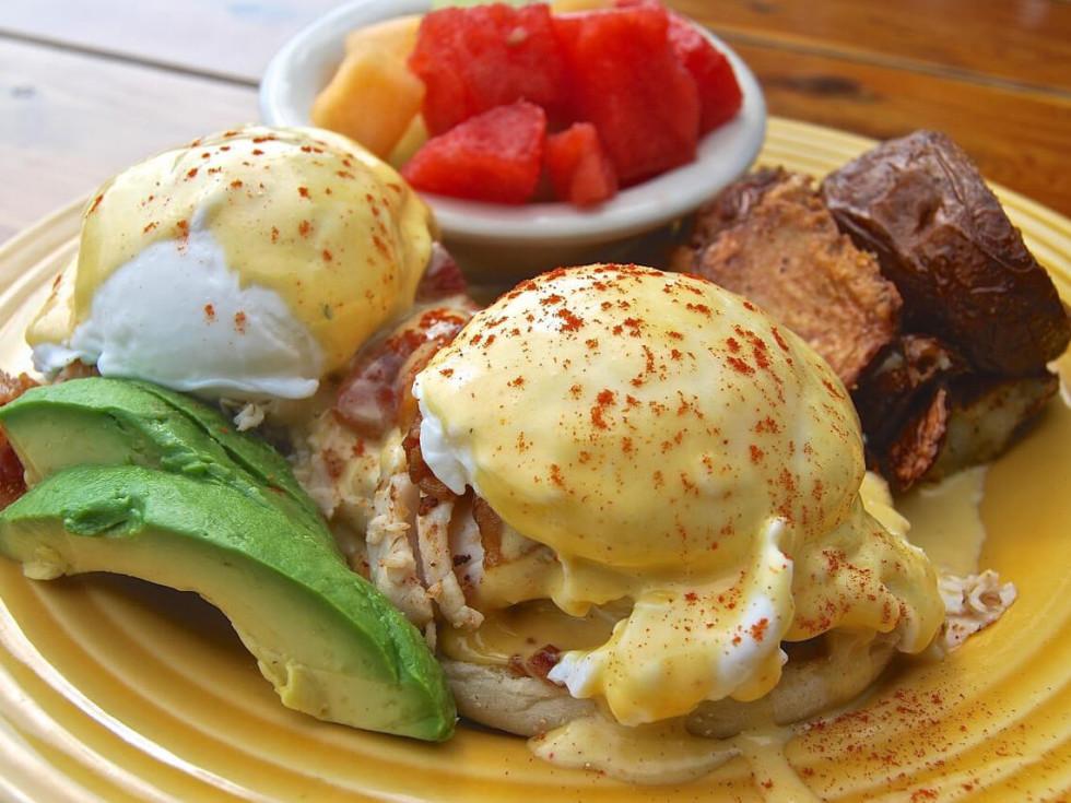 Opal Divine's eggs benedict