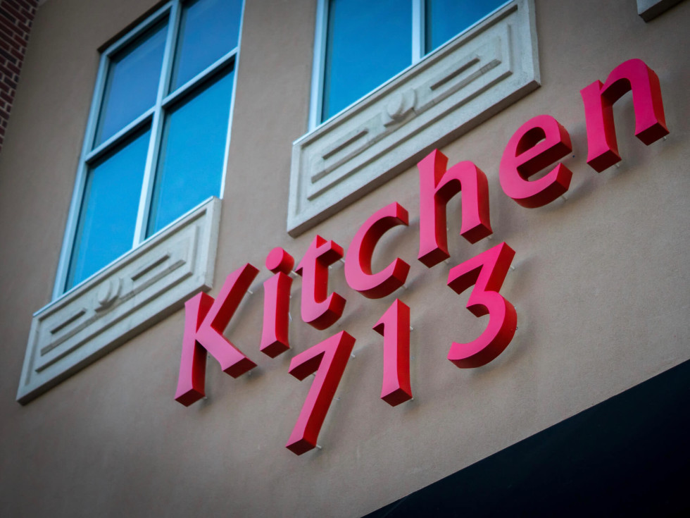 Kitchen 713 sign