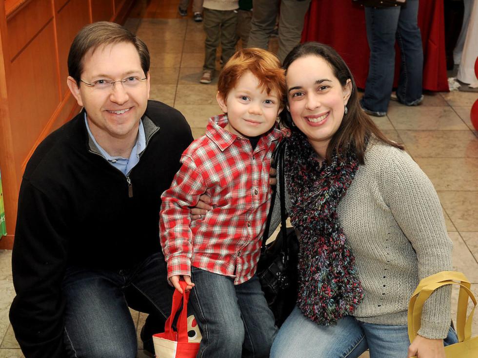 Houston, M.D. Anderson Breakfast with Santa, Dec 2016, Rachel Auwarter, Ryan Auwarter, Todd Auwarter