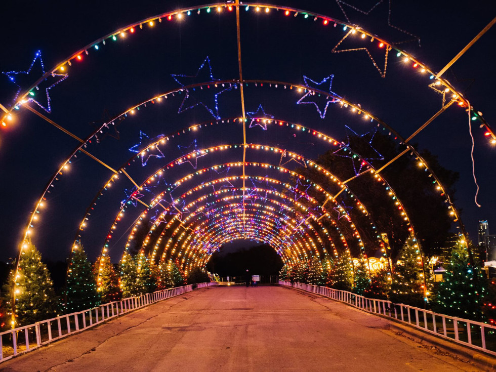 Austin Trail of Lights Zilker Park tunnel holiday Christmas