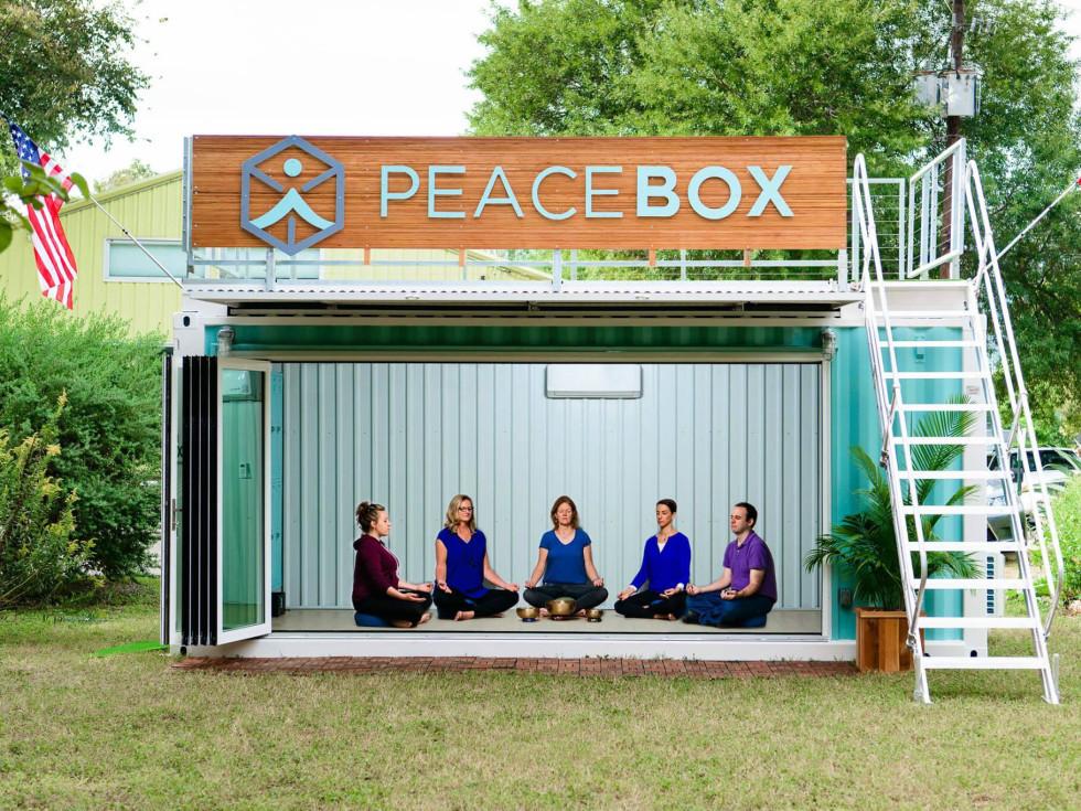 Peace Box pop-up meditation studio
