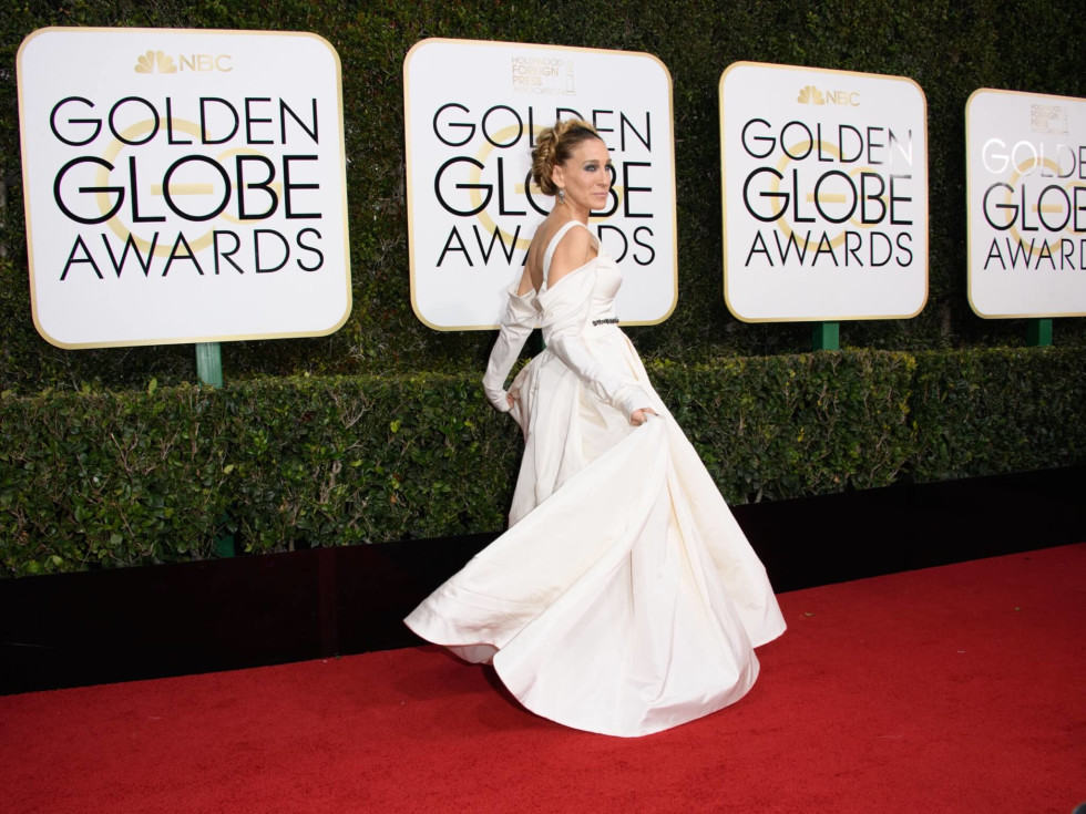 Sarah Jessica Parker at the Golden Globes