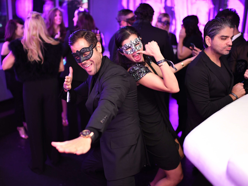 Manolo Elias, Naureen Malik at Heart of Fashion Masquerade Ball