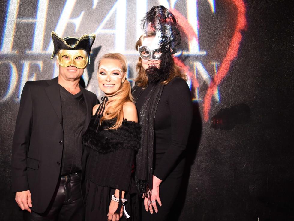 Ken Hauser, Page Parkes, Landa Hauser at Heart of Fashion Masquerade Ball