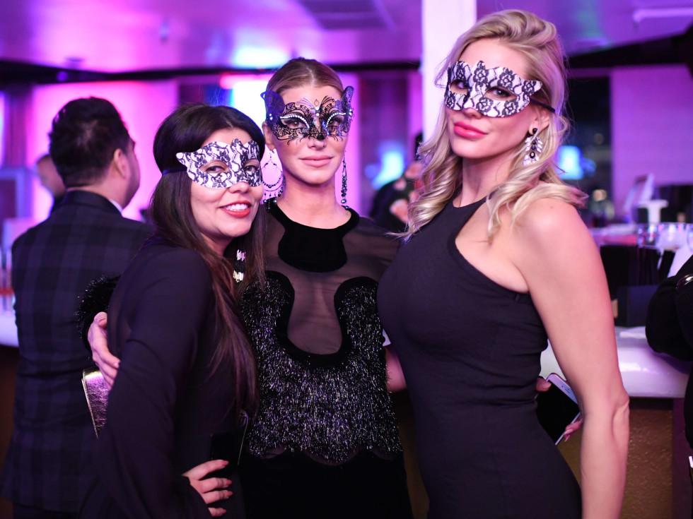 Mona Khan, Stephanie Alias, Jessica Hatch at Heart of Fashion Masquerade Ball