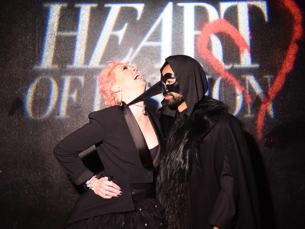 Vivian Wise, Fady Armanious at Heart of Fashion Masquerade Ball