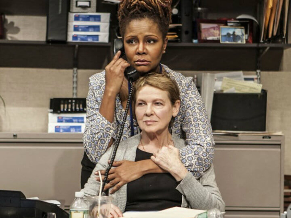 "Tonya Pinkins and Diane Wiest in the Off-Broadway premiere of ""Rasheeda Speaking"""